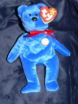 Ty First Beanie Babies Official Club Blue Bear *Clubby* - Retired in Okinawa, Japan
