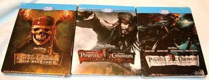 (NEW) Pirates of the Caribbean Trilogy Bluray SteelBook in Okinawa, Japan