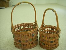Hand woven/colorful basket set in Stuttgart, GE