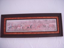 Fox hunting in wooden frame from Bombay furniture in Stuttgart, GE