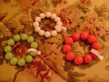 3 Colorful Stretch Bracelets in Houston, Texas